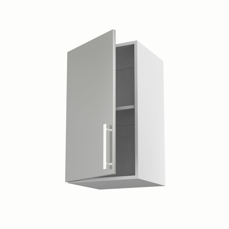 meuble de cuisine haut gris 1 porte d233lice h70 x l40 x p