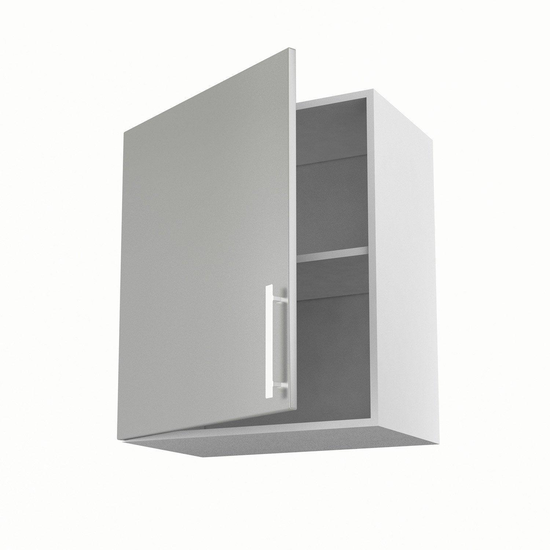 Meuble de cuisine haut gris 1 porte d lice x x p for Meuble haut cuisine 60 x 60