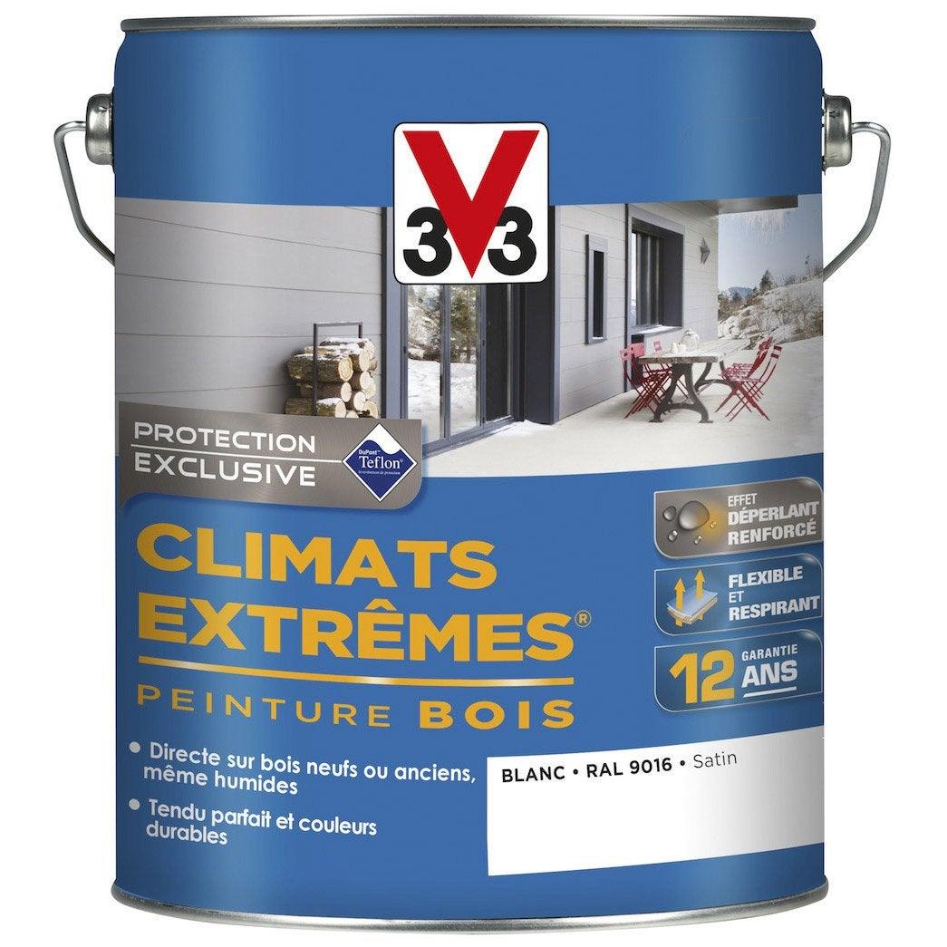peinture bois ext rieur climats extr mes v33 satin blanc 5 l leroy merlin. Black Bedroom Furniture Sets. Home Design Ideas