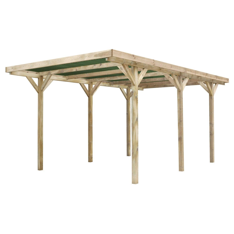 carport bois madeira emilio m leroy merlin. Black Bedroom Furniture Sets. Home Design Ideas