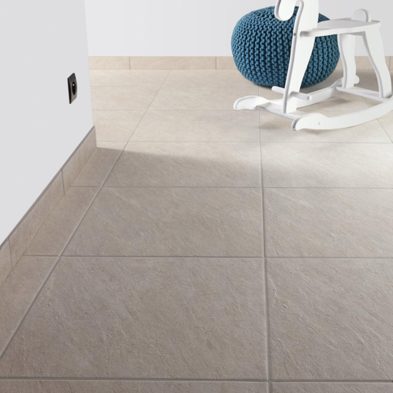 Carrelage sol et mur beige effet pierre bellac x for Carrelage 45x45