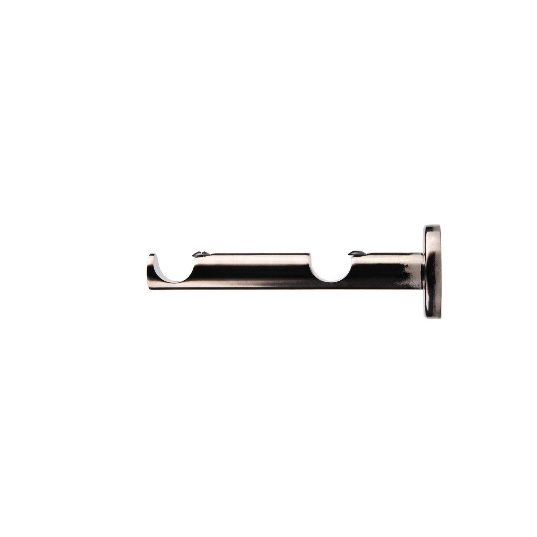 Support tringle rideau chic 20 mm black nickel inspire - Tringle rideaux leroy merlin ...