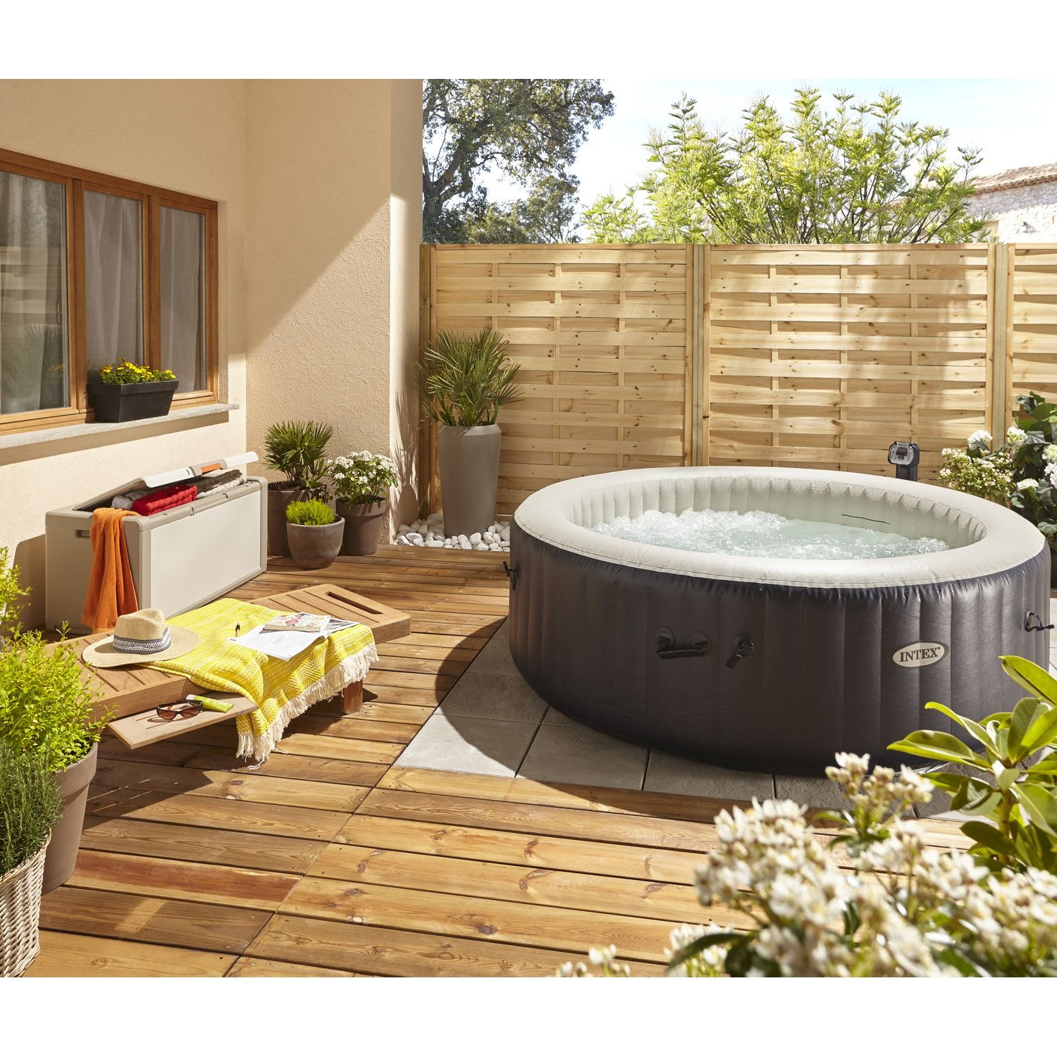 Affordable spa gonflable intex purespa bulles blue navy rond with spa intex leroy merlin with - Castorama jardin rotofil orleans ...