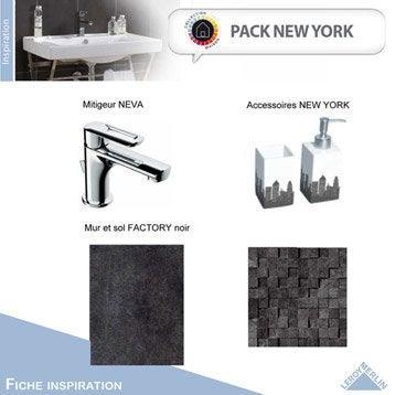 meuble sous vasque et miroir new york leroy merlin. Black Bedroom Furniture Sets. Home Design Ideas