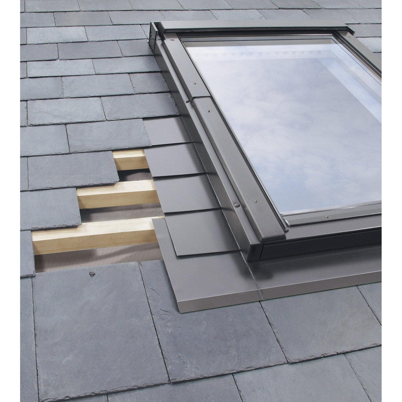 raccord pour fenêtre de toit fakro elv gris  leroy merlin