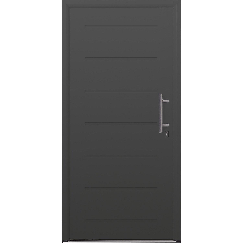 porte d 39 entr e acier must hormann poussant gauche h215 x l90 cm leroy merlin. Black Bedroom Furniture Sets. Home Design Ideas