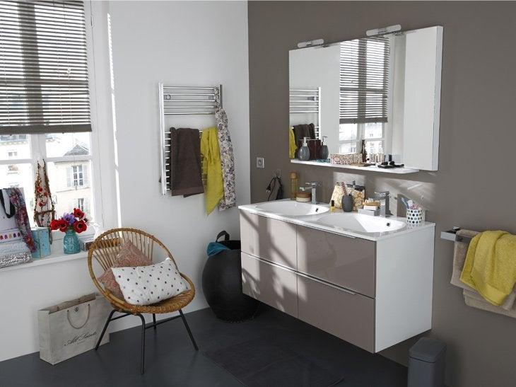 Meuble salle de bain wenge leroy merlin solutions pour for Idee deco salle de bain leroy merlin