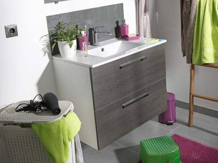 Meuble rangement salle de bain leroy merlin solutions for Hauteur meuble salle de bain leroy merlin