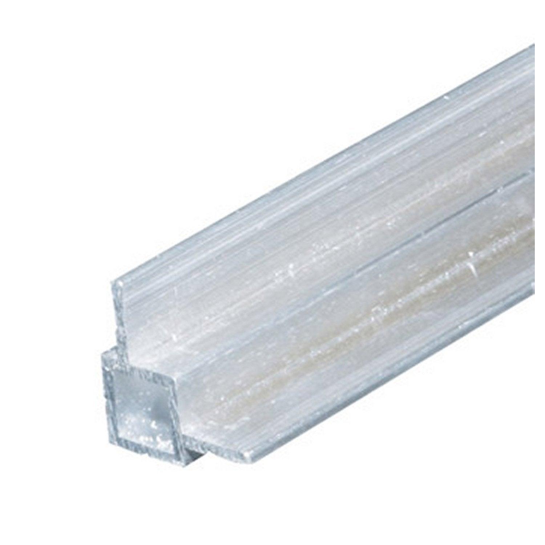 tube carr aluminium brut l 1 m x l 1 4 cm x h 1 4 cm. Black Bedroom Furniture Sets. Home Design Ideas