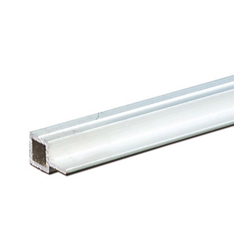 Tube carr aluminium brut l 1 m x l 1 4 cm x h 1 4 cm leroy merlin - Prieel aluminium leroy merlin ...