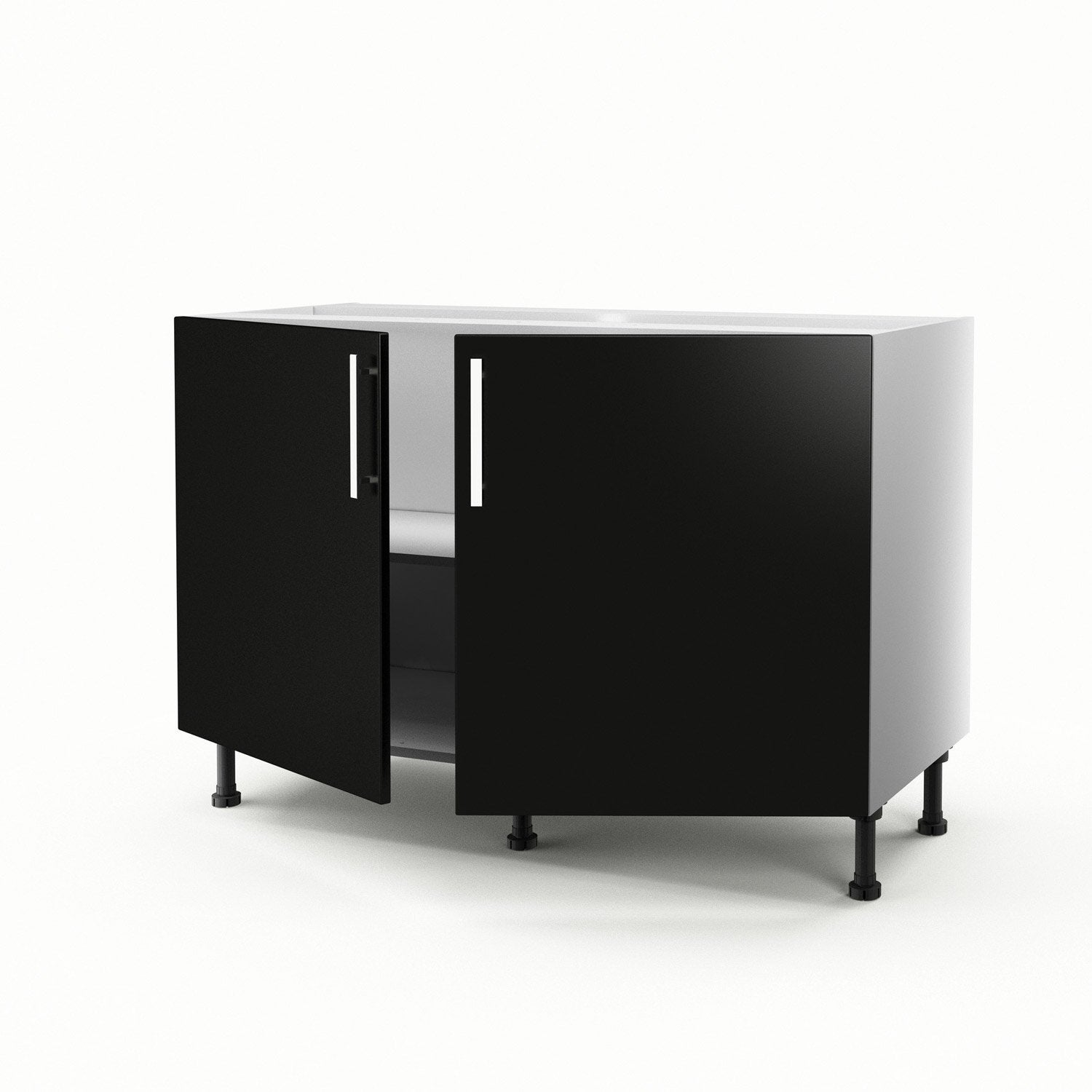 meuble de cuisine sous vier noir 2 portes d lice x x cm leroy merlin. Black Bedroom Furniture Sets. Home Design Ideas