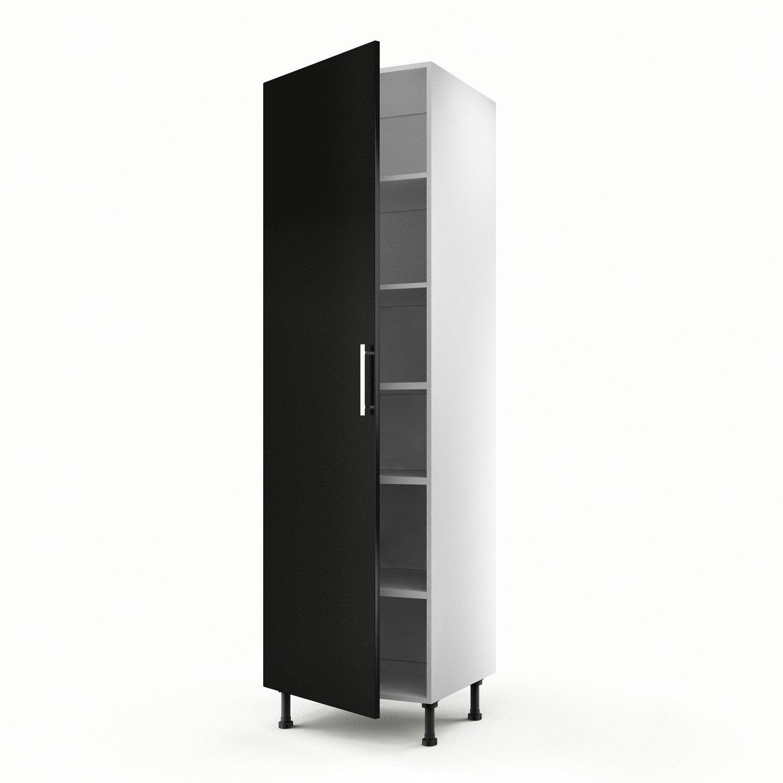 Meuble de cuisine colonne noir 1 porte d lice x for Colonne cuisine 40 cm