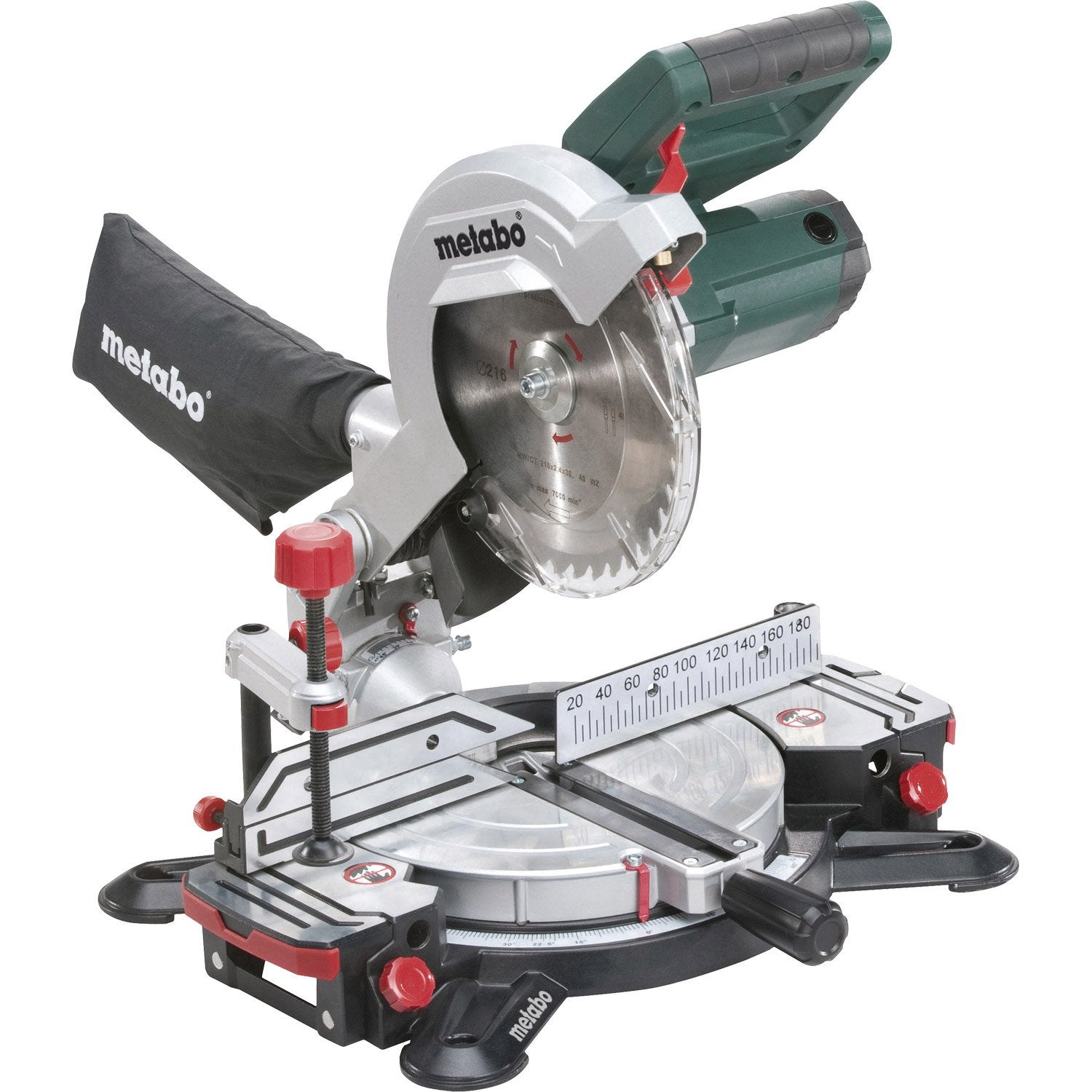 metabo kgs 216 m scie a onglet radiale