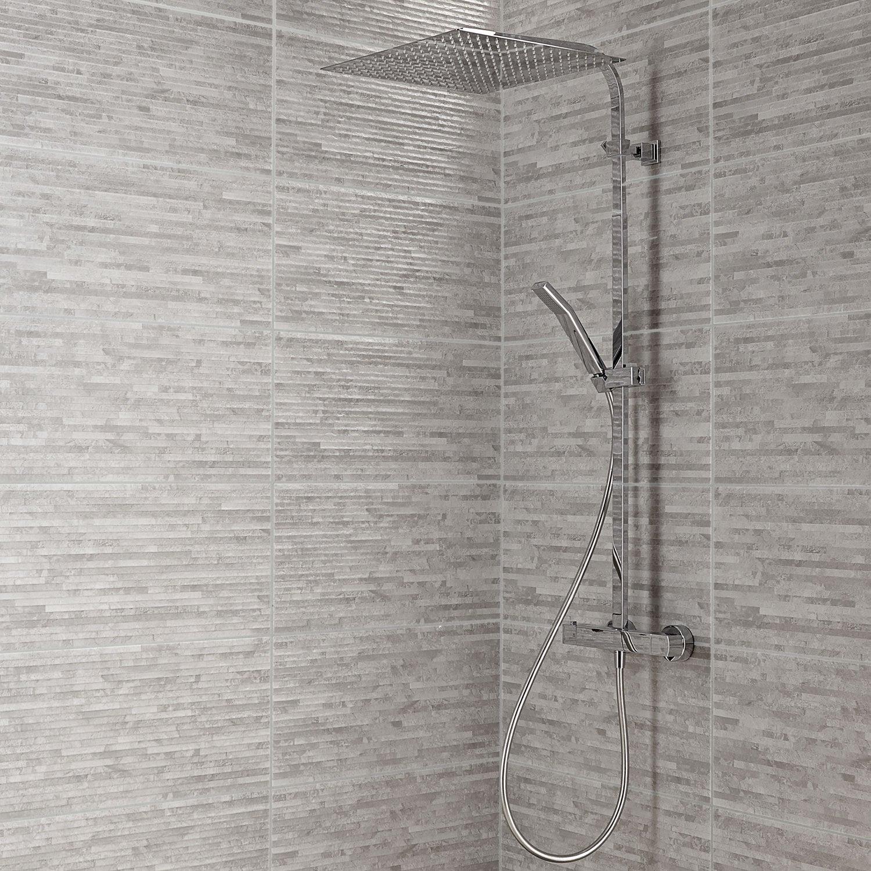 carrelage mur gris wallstone x cm leroy merlin. Black Bedroom Furniture Sets. Home Design Ideas