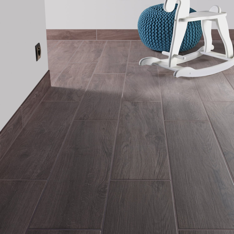 Carrelage sol et mur gris fum effet bois helsinki for Carrelage 80 x 80