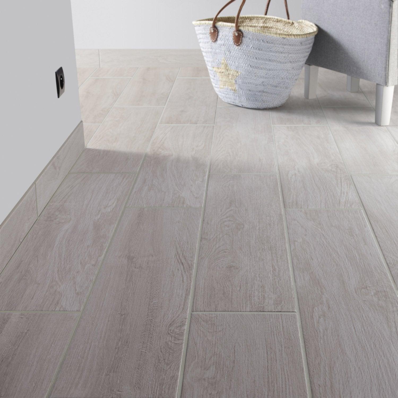 Carrelage sol et mur gris perle effet bois helsinki for Carrelage 80 80