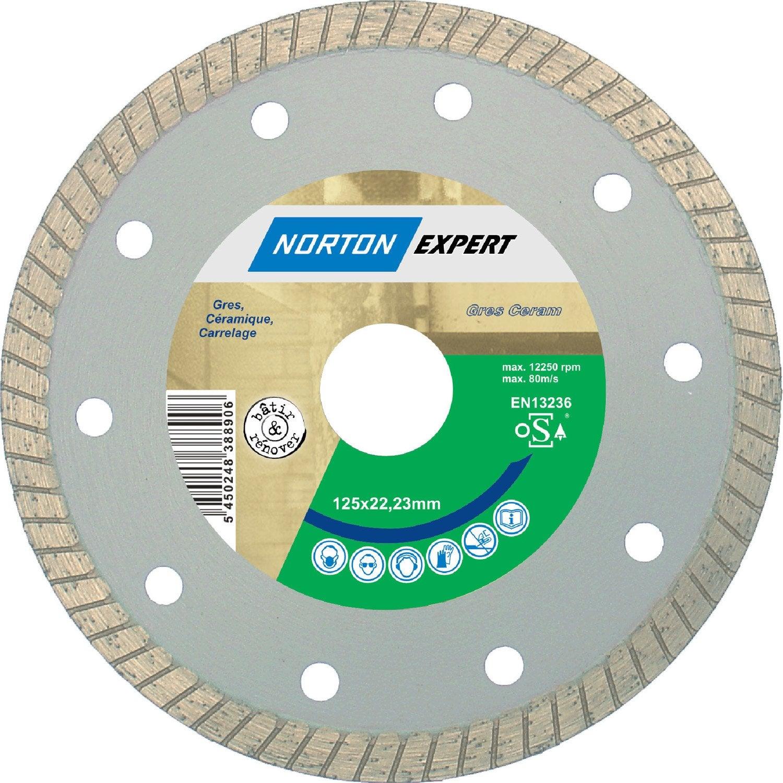 Disque diamant pour mat riaux de construction norton diam for Coupe carrelage leroy merlin