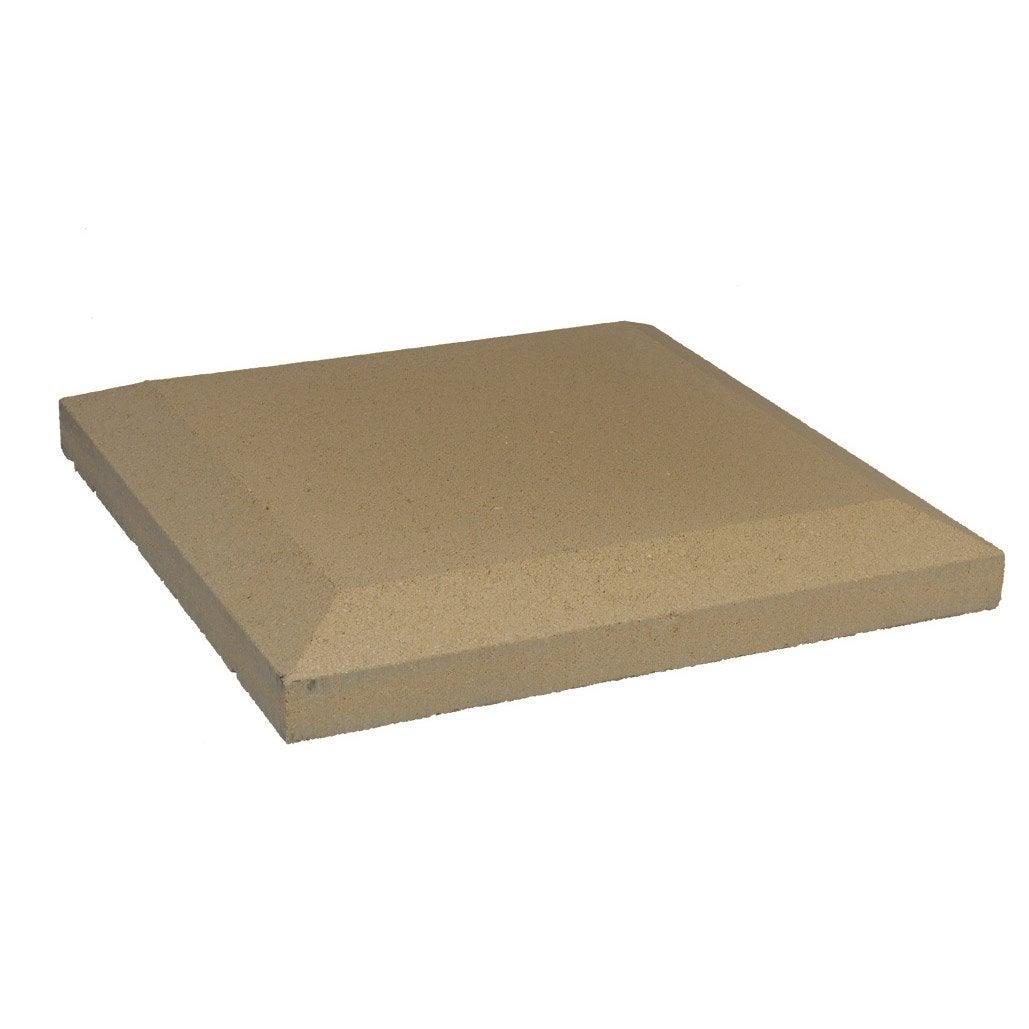 chapeau de pilier plat en pierre reconstitu e h 5 x x cm leroy merlin. Black Bedroom Furniture Sets. Home Design Ideas