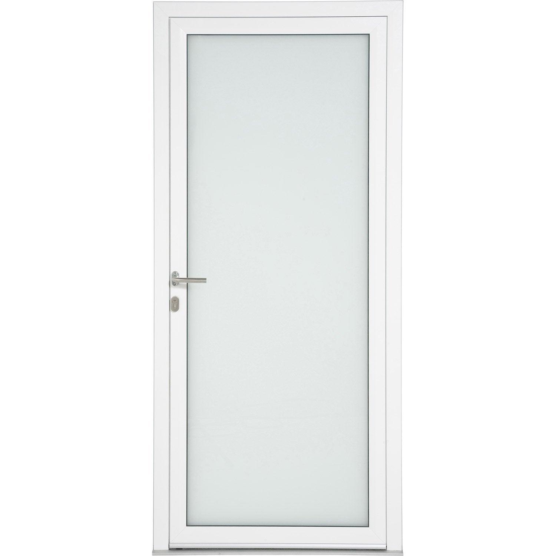 Porte d 39 entr e aluminium julia artens poussant droit x cm leroy merlin - Regel alu leroy merlin ...