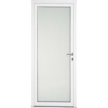 porte d 39 entr e aluminium julia artens poussant gauche h215 x l90 cm leroy merlin. Black Bedroom Furniture Sets. Home Design Ideas