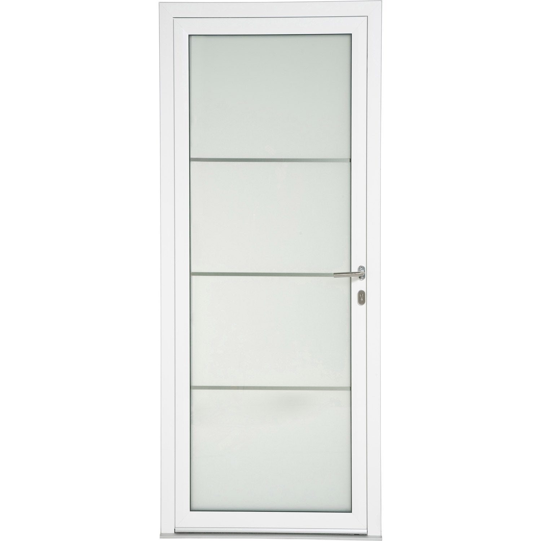 Porte d 39 entr e aluminium laly artens poussant gauche h215 - Leroy merlin porte entree alu ...
