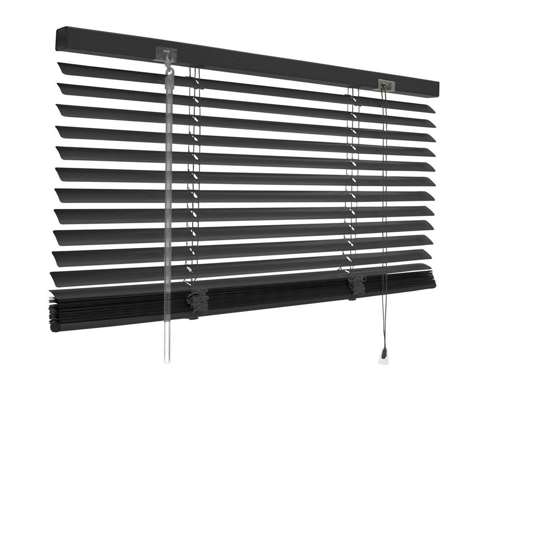 Store v nitien aluminium inspire noir noir n 0 40x130 cm for Stores exterieur leroy merlin