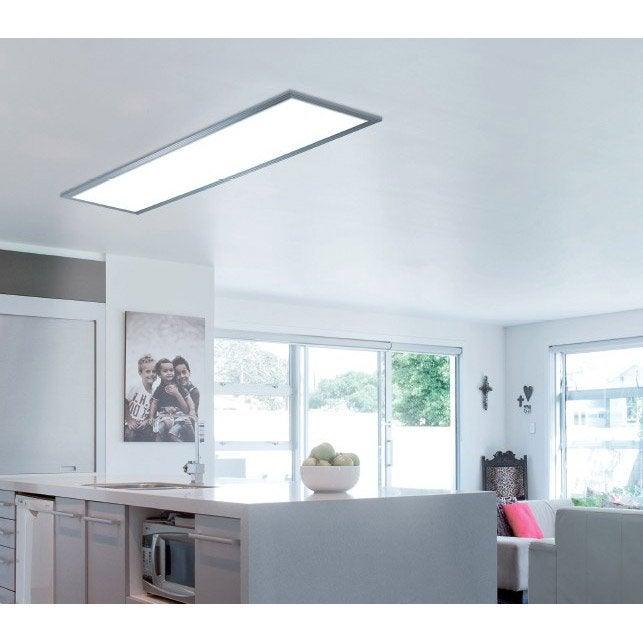 panneau led gdansk led 1 x 36 w led int gr e leroy merlin. Black Bedroom Furniture Sets. Home Design Ideas