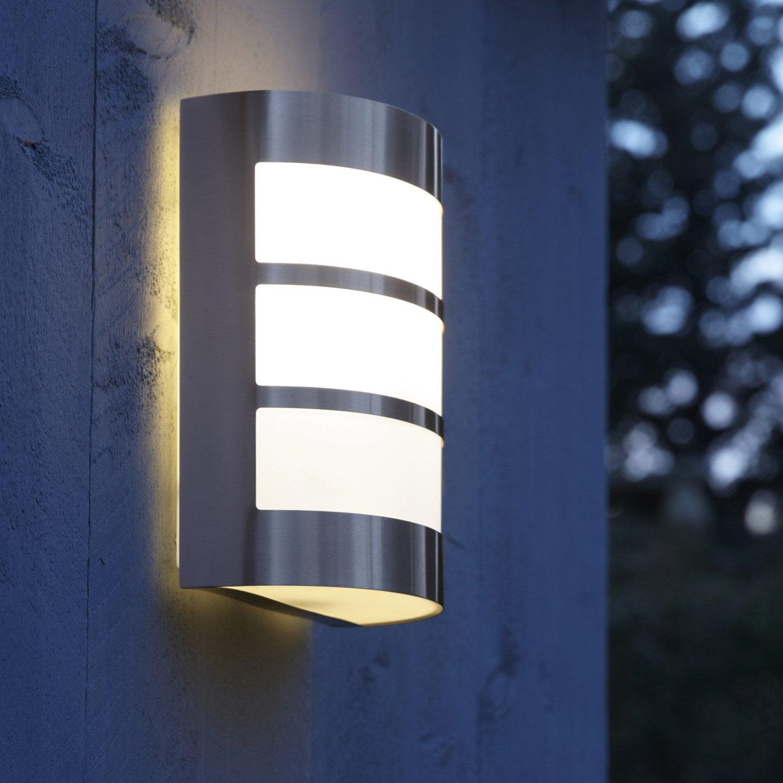 Demi applique ext rieure montreal e27 acier inspire for Location eclairage exterieur