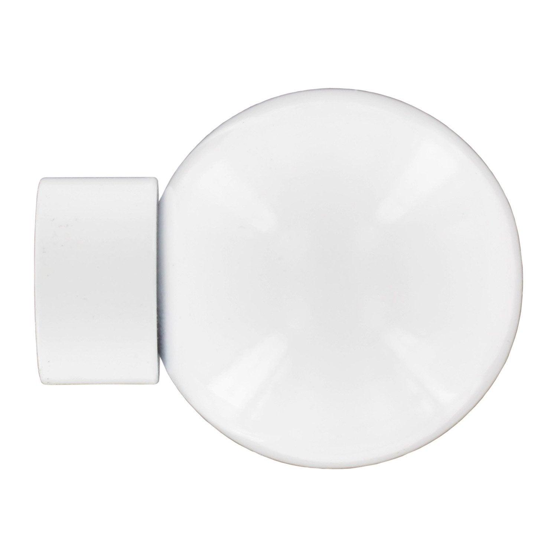 Embout boule city inspire pour tringle rideau blanc - Boule lumineuse exterieur leroy merlin ...