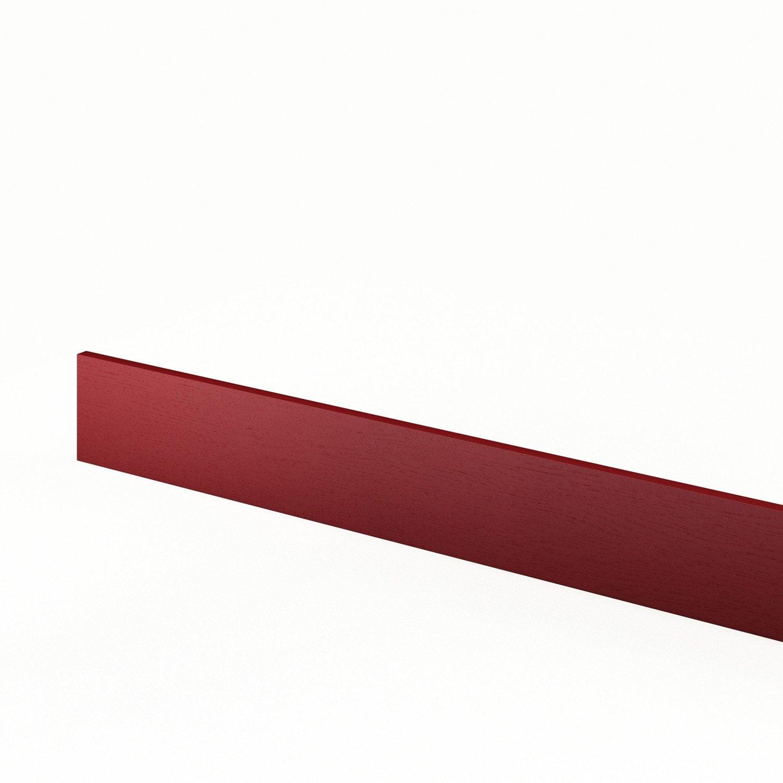 Plinthe de cuisine rouge rubis x cm leroy - Plinthe pour cuisine amenagee ...