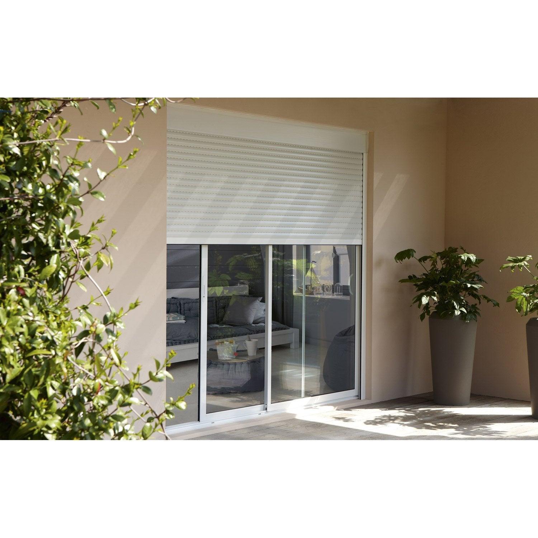 baie vitr e aluminium avec volet roulant brico premium h. Black Bedroom Furniture Sets. Home Design Ideas
