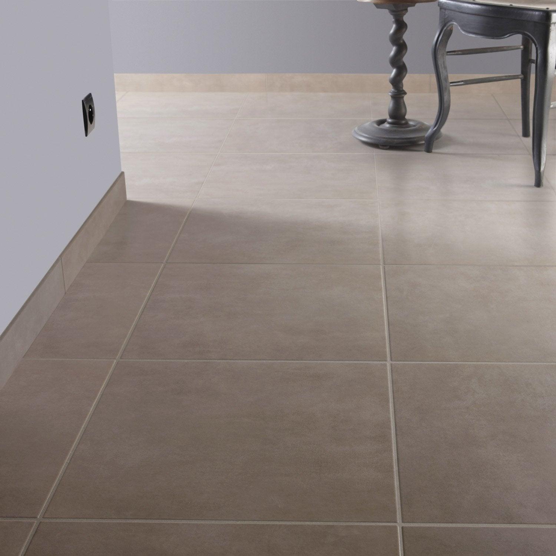 Carrelage sol et mur gris dor 6 effet b ton oslo x cm leroy merlin for Peinture carrelage sol v