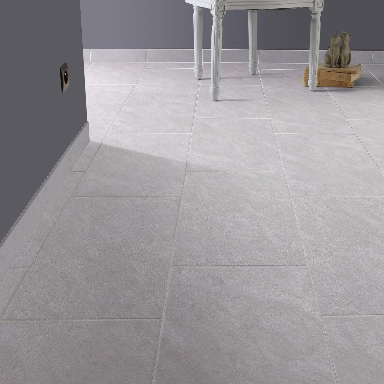 Carrelage sol et mur argent effet pierre bellac x l for Carrelage 45x45