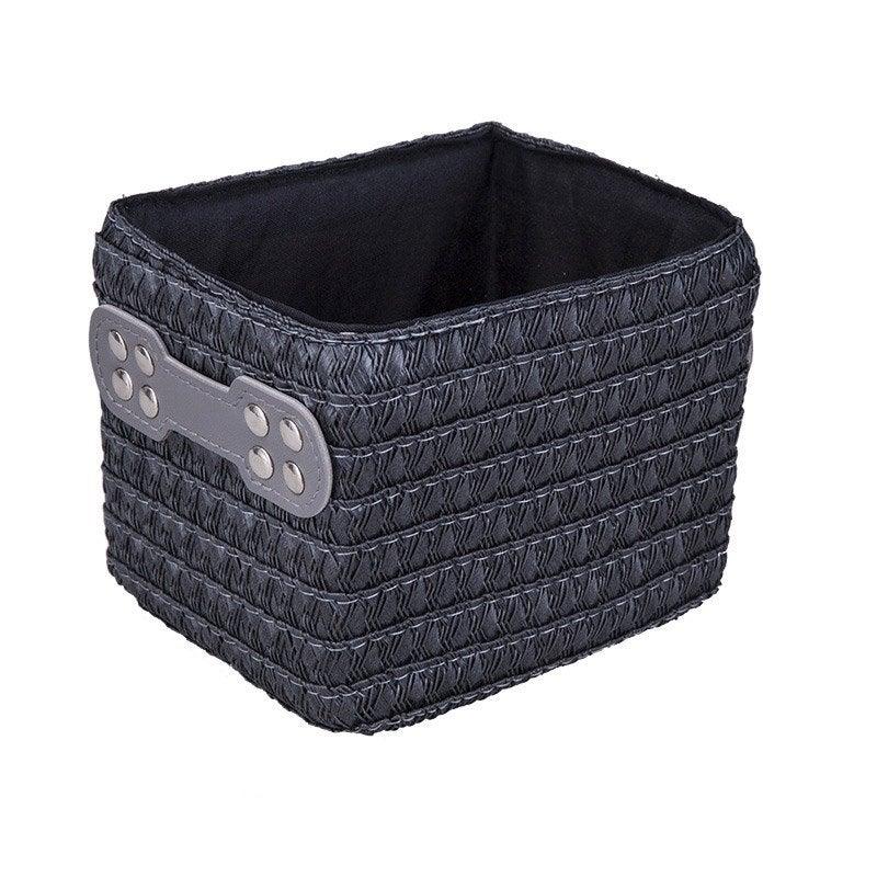 panier en plastique gris zingu 1 paille leroy merlin. Black Bedroom Furniture Sets. Home Design Ideas