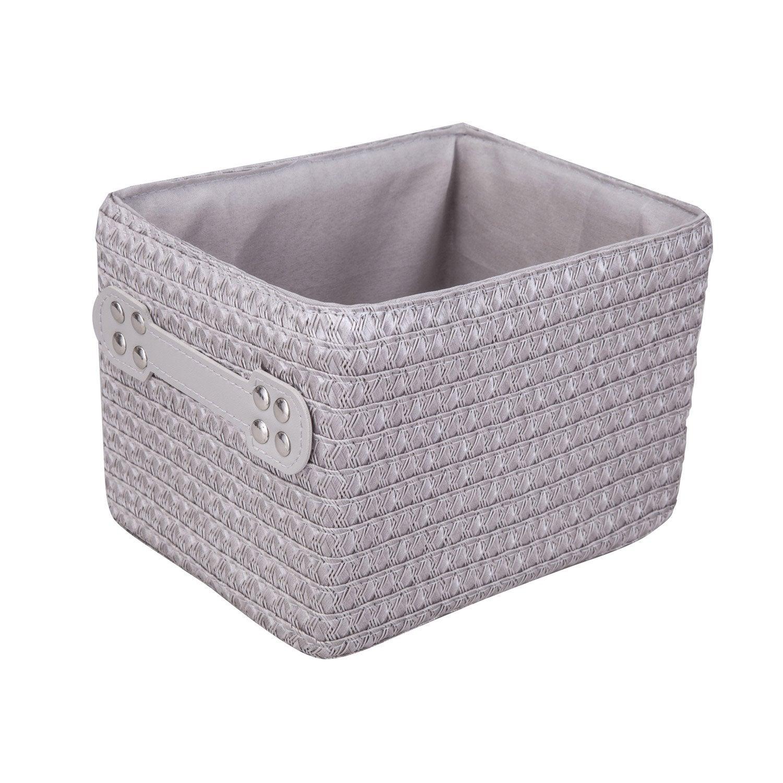 panier en plastique gris gris 4 paille leroy merlin. Black Bedroom Furniture Sets. Home Design Ideas
