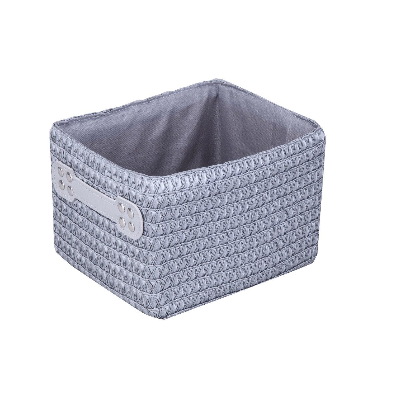 panier en plastique gris galet 3 paille leroy merlin. Black Bedroom Furniture Sets. Home Design Ideas
