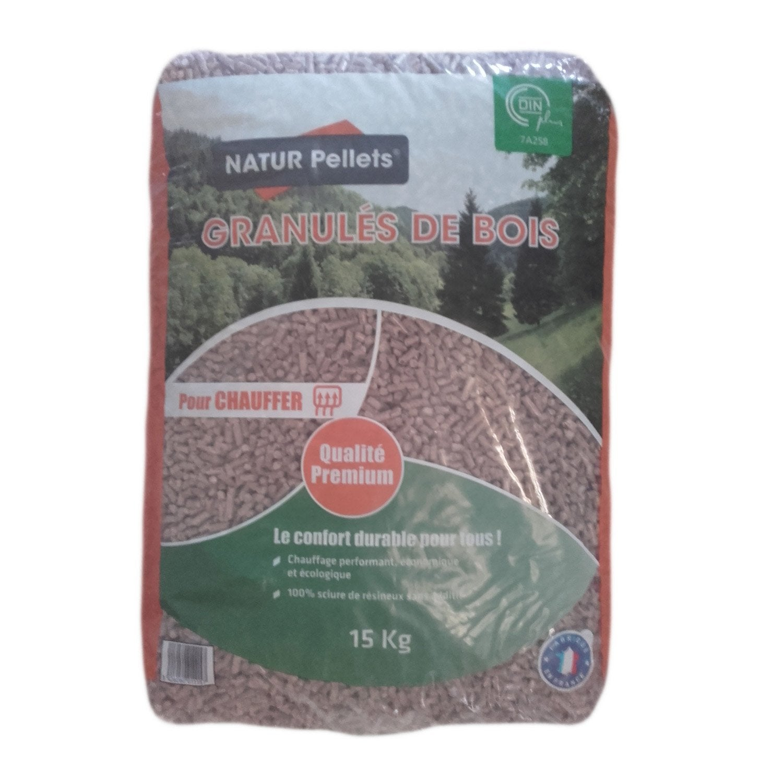 Granul s de bois azurenergie en sac 15 kg leroy merlin - Granules de bois bricomarche ...