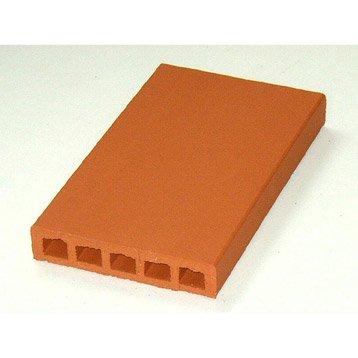 couvre mur foraine en terre cuite coloris rouge 5x40x23 cm leroy merlin. Black Bedroom Furniture Sets. Home Design Ideas