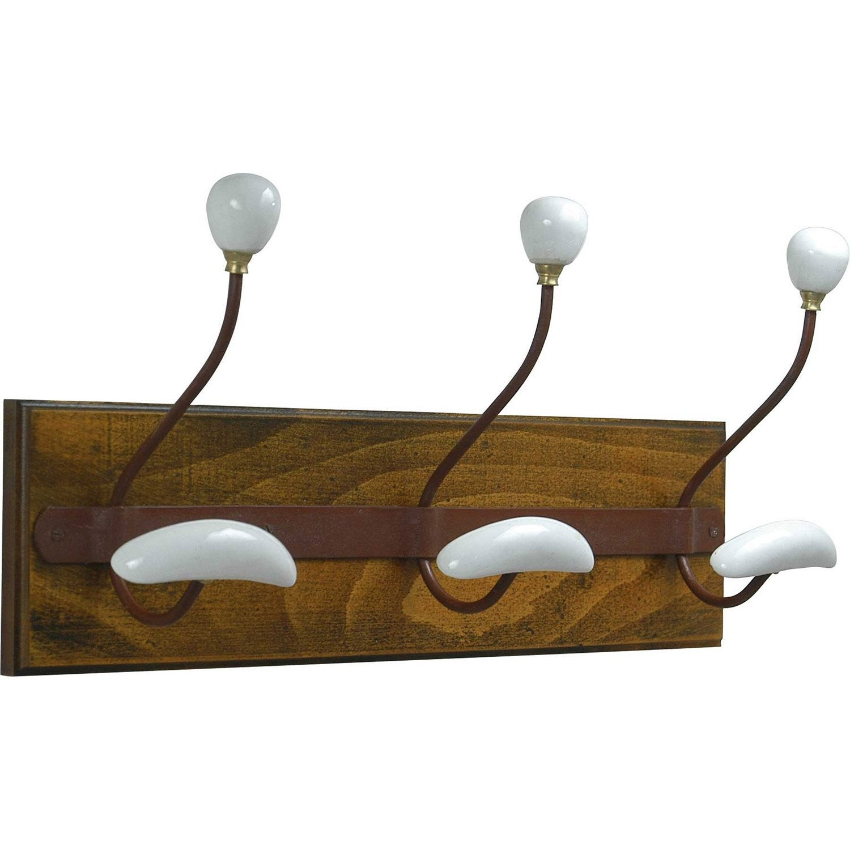 porte manteau visser 3 t tes s rie galbe leroy merlin. Black Bedroom Furniture Sets. Home Design Ideas