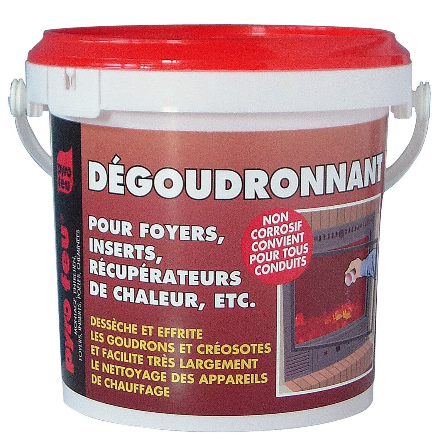 d goudronnant pour foyers d 39 inserts pyrofeu pot de 800 gr leroy merlin. Black Bedroom Furniture Sets. Home Design Ideas