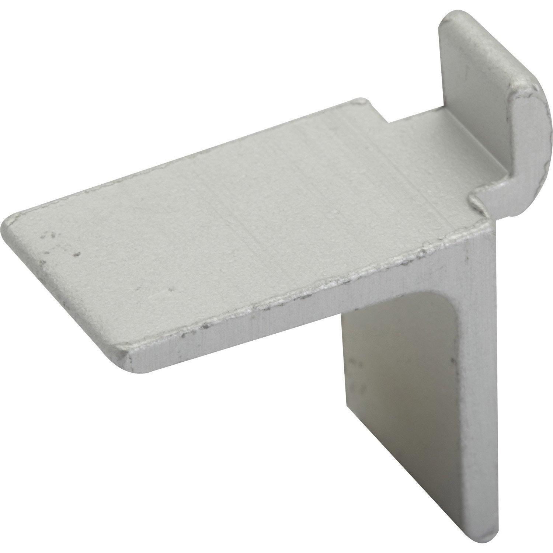 60 taquets pour cr maill re en aluminium gris leroy merlin. Black Bedroom Furniture Sets. Home Design Ideas