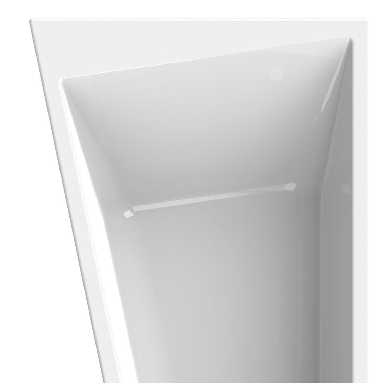 Baignoire asym trique gauche cm blanc sensea - Baignoire design leroy merlin ...