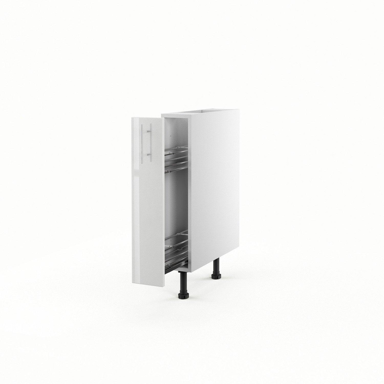 Meuble de cuisine bas blanc 1 porte rio h70xl15xp56 cm for Bas de porte leroy merlin