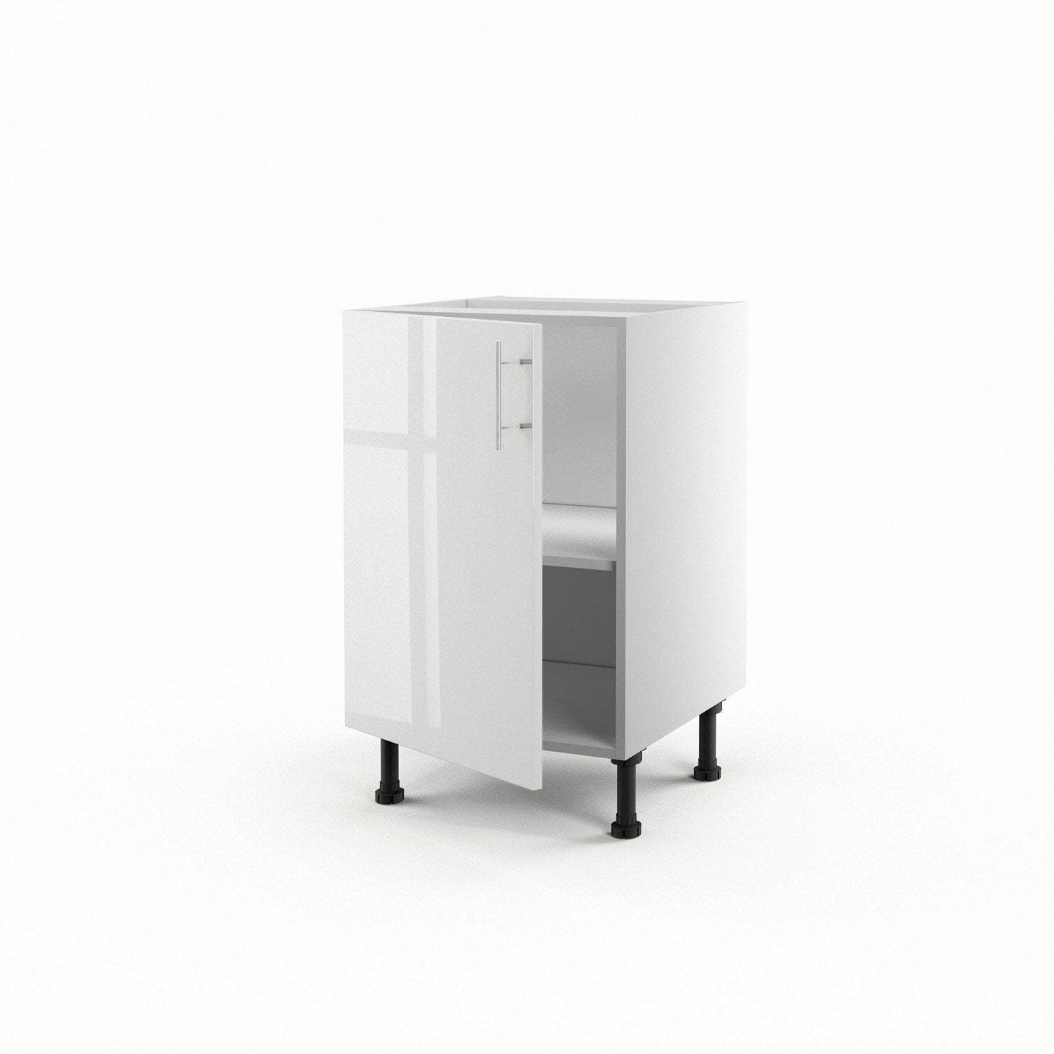 meuble de cuisine bas blanc 1 porte rio h70xl50xp56 cm leroy merlin. Black Bedroom Furniture Sets. Home Design Ideas