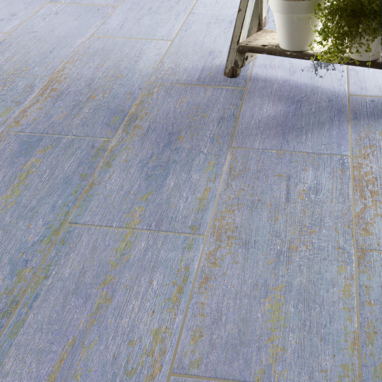 carrelage sol et mur bleu effet bois cuba x cm leroy merlin. Black Bedroom Furniture Sets. Home Design Ideas