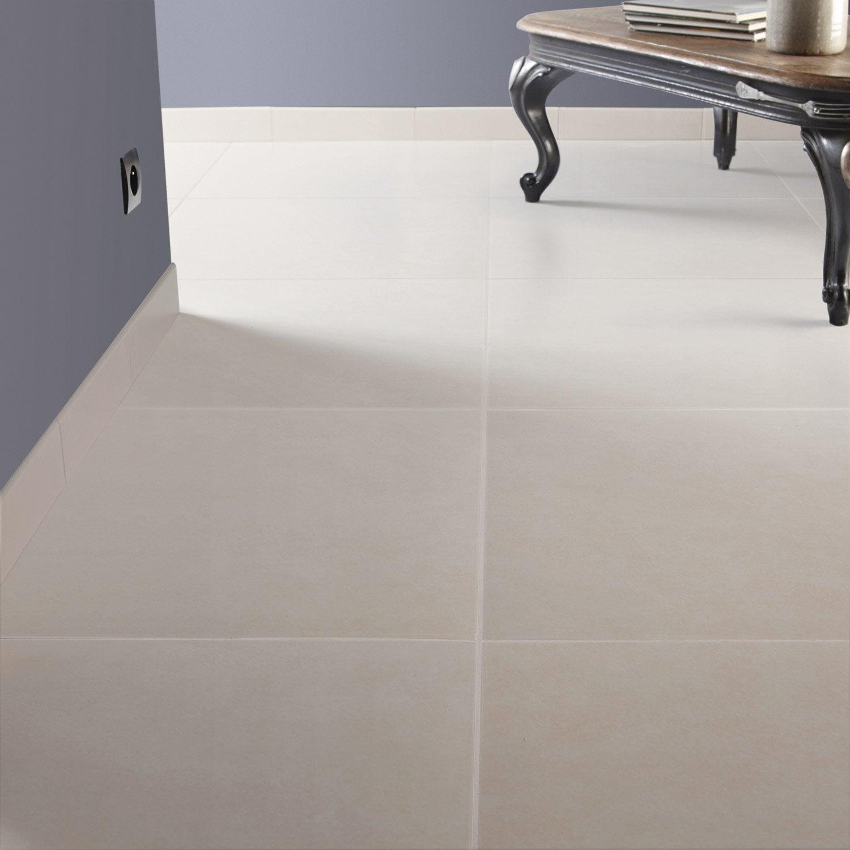 Carrelage sol et mur blanc ivoire 5 effet b ton universo l for Carrelage 45x45 leroy merlin