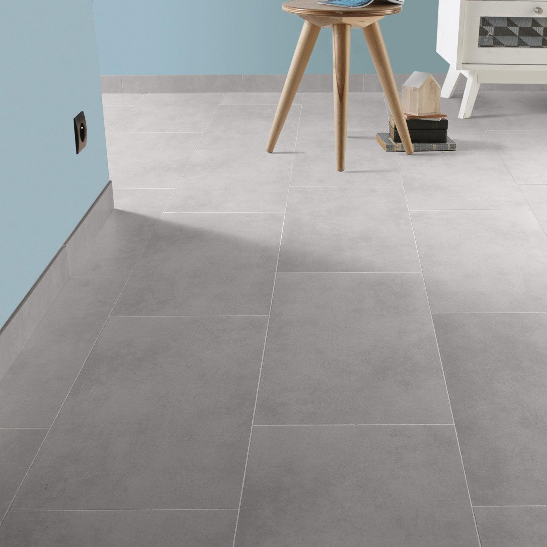 Carrelage sol et mur blanc calcaire 5 effet b ton oslo l for Carrelage gris leroy merlin