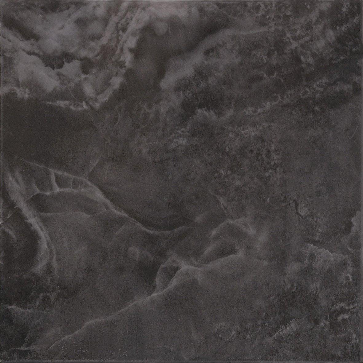 carrelage sol et mur noir effet marbre dafne l 34 x l 34. Black Bedroom Furniture Sets. Home Design Ideas