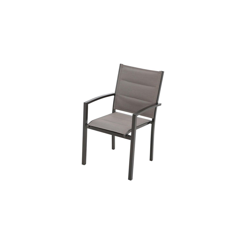 fauteuil de jardin en tissu lisboa bronze leroy merlin. Black Bedroom Furniture Sets. Home Design Ideas