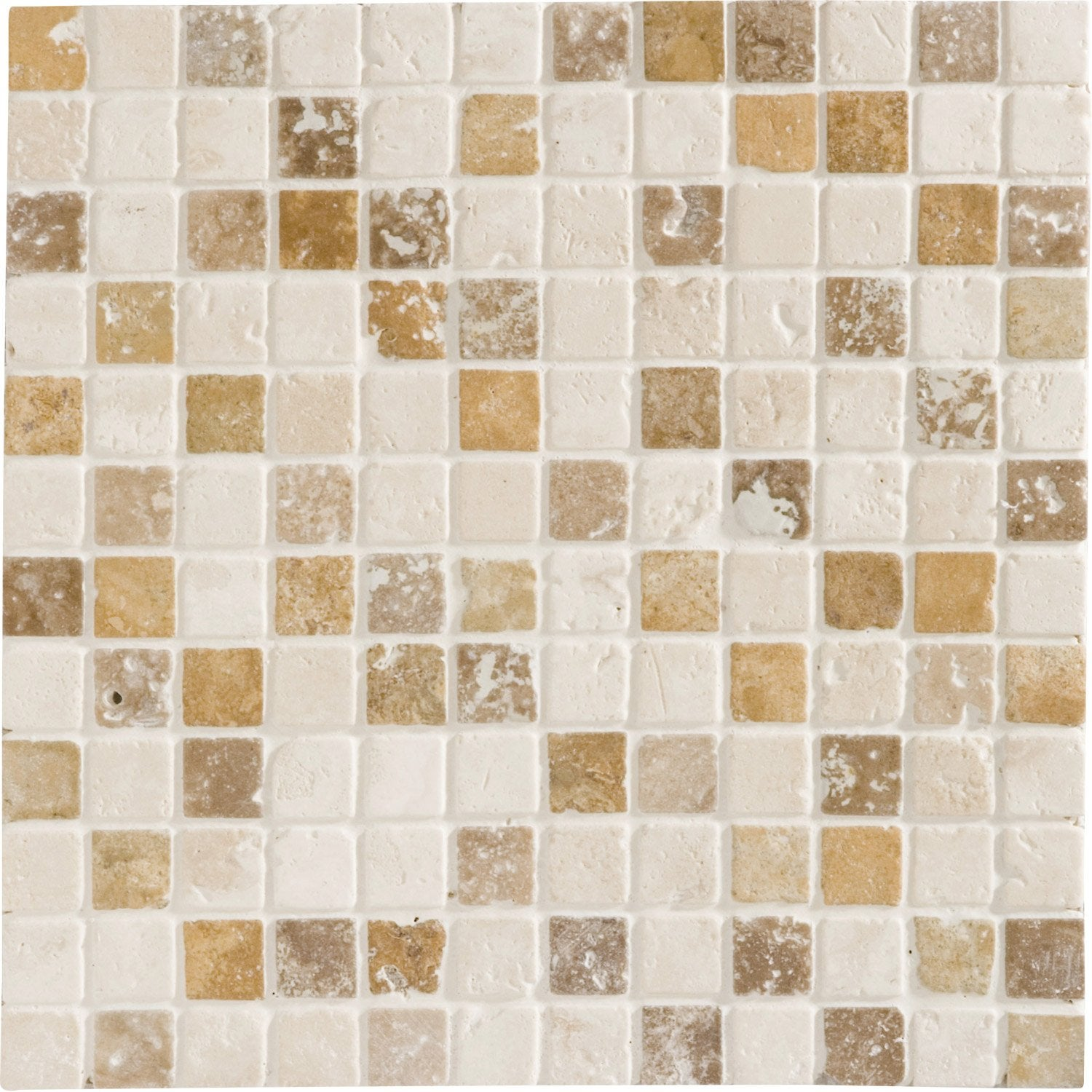 Mosa que mineral travertin artens mix cm leroy merlin for Mosaique travertin leroy merlin